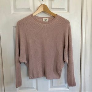 Aritzia Wilfred | Dusty Pink Ribbed Sweater | XXS
